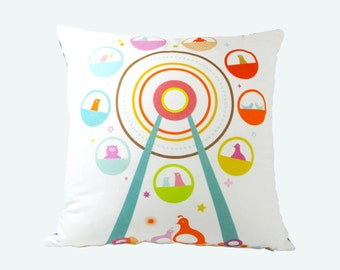 Limited Edition Ferris Wheel Pillow 18 Inches Square Pillow