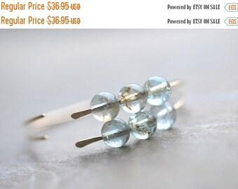 CLOSING SALE Aquamarine Gold Hoop Earrings 14 Karat Goldfilled Moss Aquamarine Hoops Simple Modern Hoops Metal Gemstone Jewelry Gift for Her