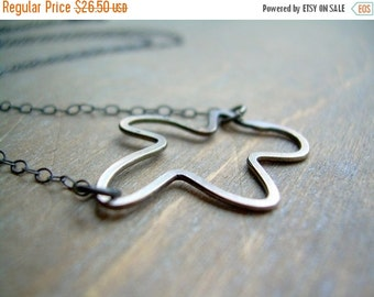 ON SALE Abstract Sterling Silver Necklace