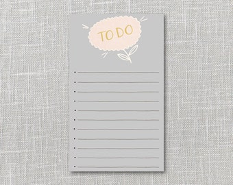 Flower To Do List Printable Instant Download PDF