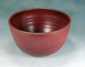 Small 6 Cup Red Ceramic Bowl Hand Thrown Stoneware Pottery Mixing Bowl 1
