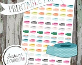 Colorful Rainbow Washi Rolls - Printable Planner Stickers - PDF - Instant Download