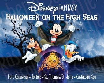 Disney Fantasy Eastern Caribbean Halloween Cruise Magnet 5x7