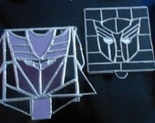 Custom Made Auto-bot or Decepticon Stained Glass Stash Box