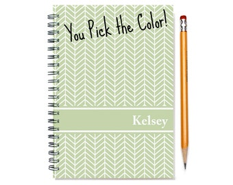 2017 2018 2 Year Weekly Planner, Personalized 24 Month Calendar Notebook, Start Any Time, Add Your Name, Gift Idea, SKU: 2yr w chevron