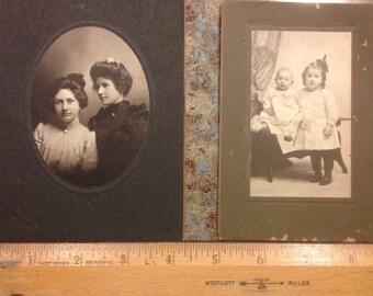Set of 2 Vintage Portraits