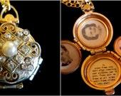 The Blushing Bride - Vintage Coro Locket Necklace