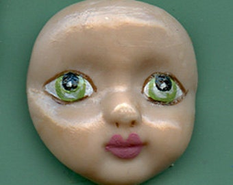 Polymer Green  Eyed Baby Face BB 1