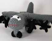 c 130 J aircraft ,  Crocheted Amigurumi Military hc 130J aircraft , stuffed airplane toy  MADE TO ORDER