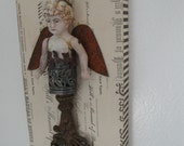 Rising From The Wreckage, salvage angel, art doll, repurposed antique, upcycled, vintage, ooak angel, inspirational, artist made, hardware