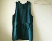 LINEN DRESS / linen pinafore dress / linen apron / linen tunic / linen smock / apron dress / women / made in australia / pamelatang