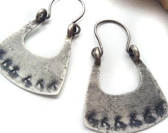 Sterling Silver Earrings - Hoop Earrings -  Small Size
