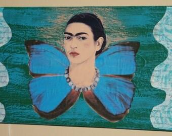 Frida on Blue Butterfly