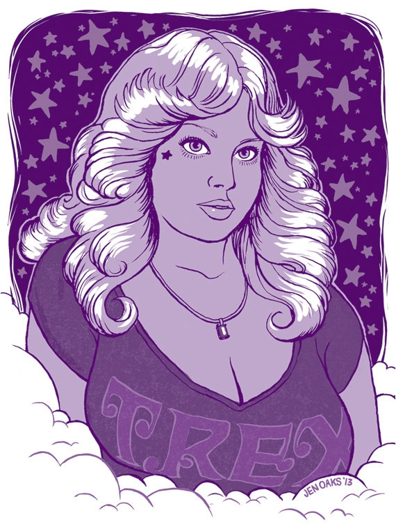 70s Dream Girl Stickers #1 - 3-pack