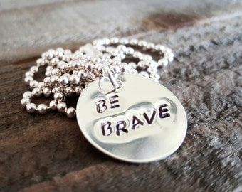 Be Brave Sterling Silver Necklace