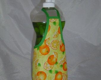 Orange Kitchen Decor Dish Soap Apron Bottle Cover Wrap Staffer Party Favor Lg