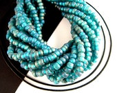 Frosty Mint Green Matte Glass Seed Beads, 6/0, 2 Strands, AB, Silver Lined Green Seed Beads, Emerald Green, Industrial Green Seedbeads SB026