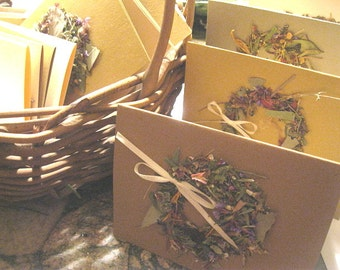 DRIED FLOWER WREATH greeting cards