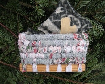 TINDERBOX  little hand coiled holiday BASKET with hand warmers  Number two