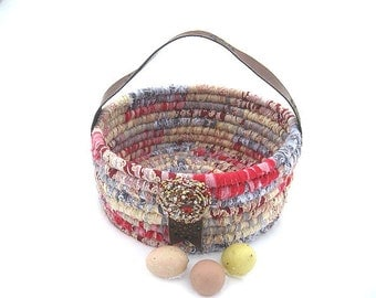 DUCHESS  textile art tote EASTER BaSKeT