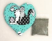 Catnip Heart Toy and Catnip Funky Cats  Refillable