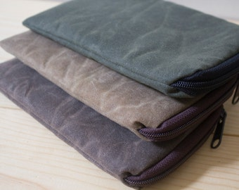 Waxed Canvas iPhone 7(plus), iPhone 6(S)Plus, Galaxy Note, Motorola Droid Maxx, Nexus 5/6 GPS, HTC One M8, Lg g, Case Sleeve Cover - Padded