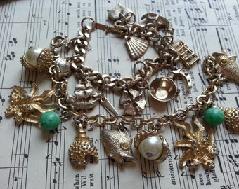 Two Vintage Charm String Bracelets. Missing some charms ... Repurpose.
