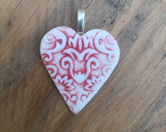 Jacquard pendant in red