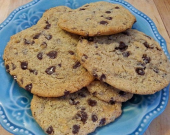 Paleo Gluten-Free Dairy-Free Chewy Chocolate Chip Cookies (with Coconut Oil) - 1 Dozen