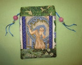 RESERVED Tarot Card Bag Lady Arwen Blue Faerie Fairy Fae Elven Sight