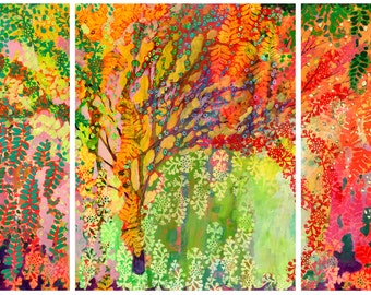 Immersed in Summer Triptych - Three (3) Fine Art Prints by Jenlo