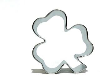 "shamrock clover Cookie Cutter, 3"", needle felt ornaments, clover brooch, St. Patrick's day pinch protection, wear green felt clover"