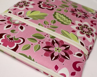 12 inch MacBook Laptop Case 13 inch MacBook Pro Cover Sleeve for Women or Girls - Pink Garden Bouquet