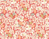 "14"" piece/remnant - Strawberry Fields Revisited - Strawberry Fields in Strawberry: sku 20265-11 cotton quilting fabric by Fig Tree for Moda"