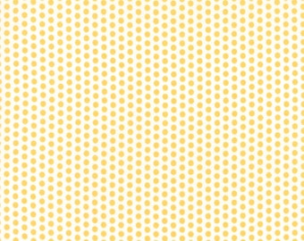 Sundrops - Dotted in White and Yellow: sku 29016-13 cotton quilting fabric by Corey Yoder for Moda Fabrics - 1 yard
