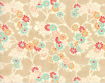 Chestnut Street - Twigs and Daisies in Chestnut: sku 20271-15 cotton quilting fabric by Fig Tree and Co. for Moda Fabrics - 1 yard