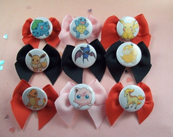 Pokémon Hair Bows