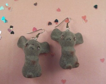 Flocked Mice Earrings