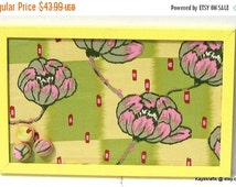 15% OFF SALE Clay Water Lily Yellow Framed Cork Board, Tack Board, Cork Bulletin Board, Cork Pin Board, 17X11 Cork Photo Board, Office Decor