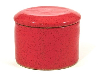 French Butter Crock in red