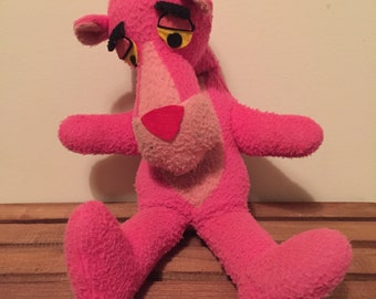Vintage Pink Panther stuffed anima