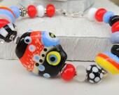 Playday Handmade Lampwork Bead Bracelet
