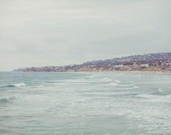 Fine Art Print, Pacific Ocean Photo, San Diego Art, Summer, Blue, Coastal, Beach Art, Vacation, California Print, Resort Art, Pacific Beach