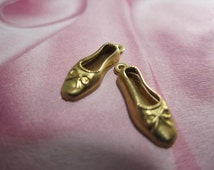 Ballerina Slipper Ballet Shoe Brass Theatrical Supplies on Etsy Quantity Choice