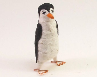 Spun Cotton Vintage Style Penguin Ornament/Figure