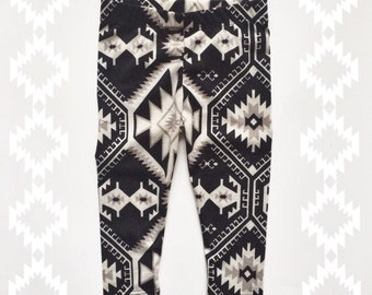 ON SALE southwest print baby and kids leggings Supayana 6 months through 6 years
