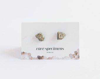 Stud Earrings - Pyrite