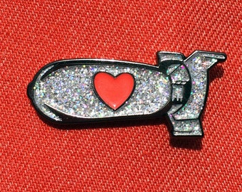 Love Bomb Lapel Pin Badge