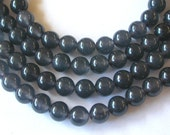 Gray Agate Beads,  8mm Round Agate Beads  (45)