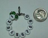 Emerald Green 10 Row Counter Stitch Marker - US 10 - Item No. 601
